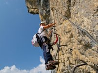 Practice via ferrata in Huesca