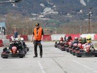 en la parrilla de salida circuito karting Barcelona