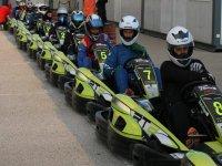 Pilotos de karting antes de la carrera Cataluna