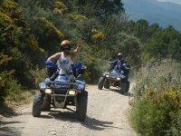 On board of individual quads in Marbella