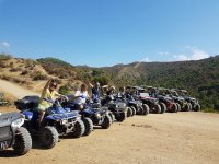 Route with off-road vehicles in Andalucia