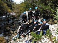 Barranquistas resting on the rocks