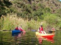 Family day in canoe in Malaga
