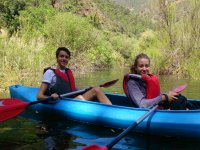 Young people in canoe in Marbella