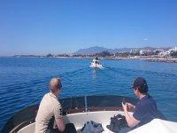 Following the marbelli fishing boat