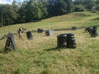 Paintball field with tires