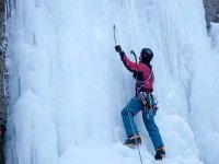 Ice climbing in Huesca