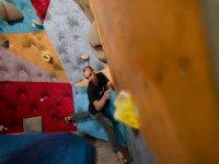 Climbing in climbing wall