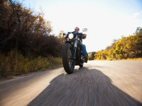 Paseando en moto