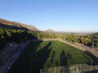 Campo de futbol en el campamento