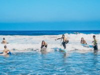 Surfing lessons in the camp