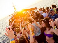 party on an Ibiza boat