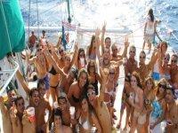 bachelor party in catamara