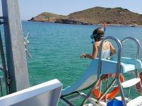 Tobogan en el barco
