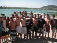 Disfrutando con los amigos del Piragüismo