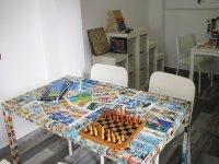 Aula taller con ajedrez
