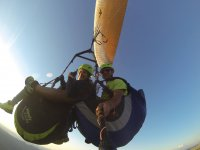 Instructor recording on the paraglide