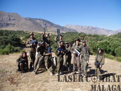 2h Laser combat in Málaga, children 8-16 years old