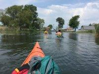 Navega por el pueblo inundado de San Polo