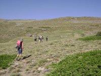 拉古纳德拉莫斯卡绿色和平缓的丘陵徒步