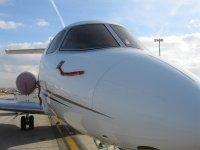 Private plane in Barcelona