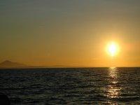 Atardecer en un paseo en barco