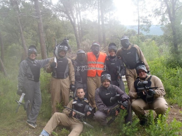 Equipazo de paintball