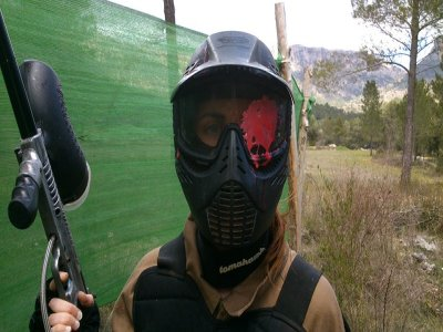 Partida de paintball en Yeste con 100 bolas