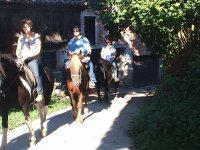 享受骑马的好天气