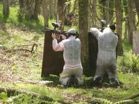 Shooting behind the protections