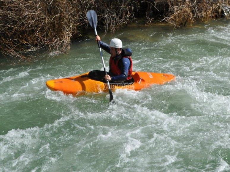 Kayaking down the Segura