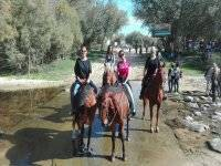 The route on horseback between friends