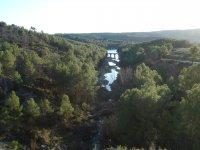 简单的独木舟河regajo进入潘塔诺