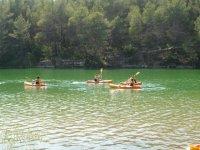 Navegar en kayak monoplaza
