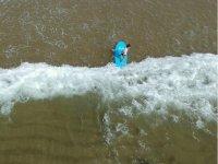 Surfer visto desde el aire