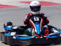 Disfrutando de una carrera de karts