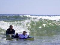 Aprendiendo a surfear con el monitor