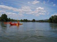 Meandre de Flix in canoa