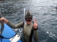 A punto de sumergirse en el Mediterráneo
