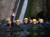 Saludando desde las aguas del barranco