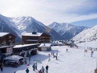 标志滑雪胜地观点