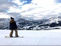 -999从滑雪板的范围内 - 在雪地里滑雪板
