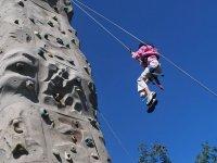 Climbing down the climbing tower