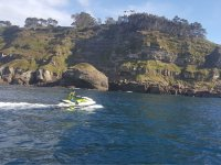 Jet ski along the Asturian coast