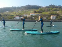 Making sup in front of Gijon