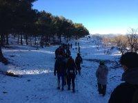 Caminando por el paisaje blanco