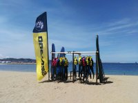 Sup material on the Poniente beach
