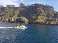 Jet ski along the Asturian coast