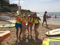 Students on the beach of Cullera