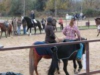 Equitacion en invierno en El Boalo